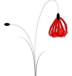 Artistic Poppy Flower vector image