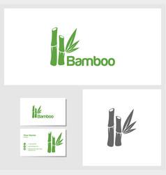 bamboo icon design template vector image