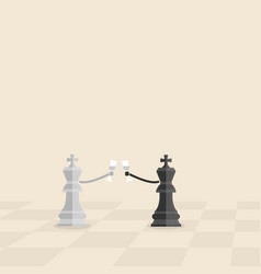 black and grey king of chess hold the glass of vector image