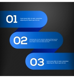bright 3D blue banners set vector image