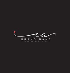Ca initial signature logo handwritten logo vector