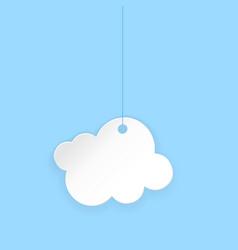 Cartoon paper cloud vector