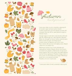 cartoon style autumn concept vector image