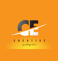 Ce c e letter modern logo design with yellow vector