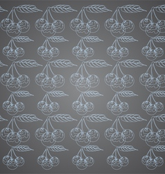 Cherry pattern on a gray background vector image