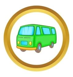 Classic van retro style icon vector