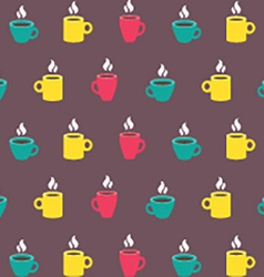 Colorful Coffee Mug Background vector image
