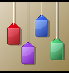 Colorful Hanging Card Case vector image