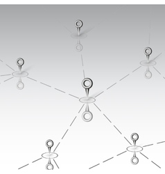 Connectivity design over gray background vector