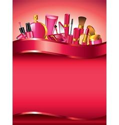 Cosmetics vertical background vector