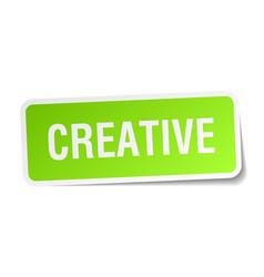 Creative square sticker on white vector