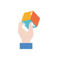 Cube shape design vector