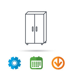 cupboard icon wardrobe furniture sign vector image