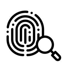 dactylogram fingerprint icon outline vector image