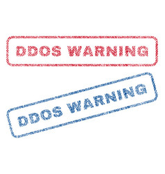 Ddos warning textile stamps vector