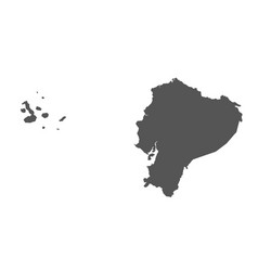 ecuador map black icon on white background vector image