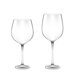 Empty wine glasses vector