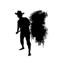 Farmer with a pitchfork vector