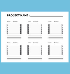 film storyboard composition scene template vector image