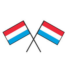Flag of luxembourg stylization of national banner vector