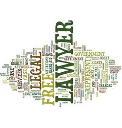 Free lawyer text background word cloud concept vector