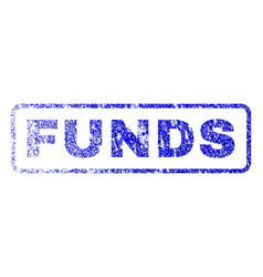 funds rubber stamp vector image