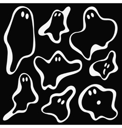 ghosts symbols vector image