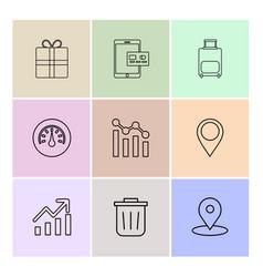 Giftbox ipad compass navigations graph bag vector