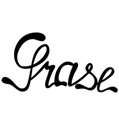 Grase name lettering vector image vector image