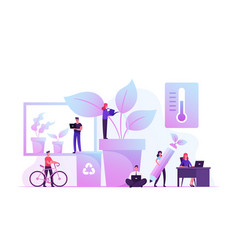 group young business people working together in vector image