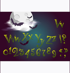 Halloween letters in cartoon movie style funny vector