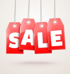 Hanging Price Tags vector image vector image