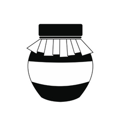 Honey jar with cover icon vector image