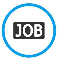 Job Text Circled Icon vector