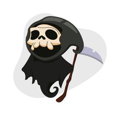 Kawaii cartoon a skull ripper halloween vector