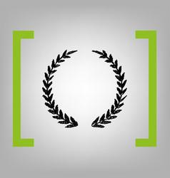 laurel wreath sign black scribble icon in vector image
