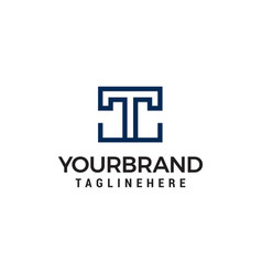 letter tt square geometric logo design concept vector image