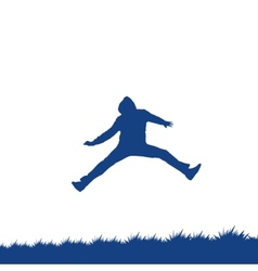 man jumping vector image