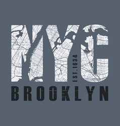 New tork brooklyn t-shirt and apparel vector