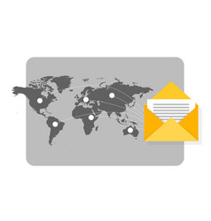 newsletter concept with mail flying spreading vector image