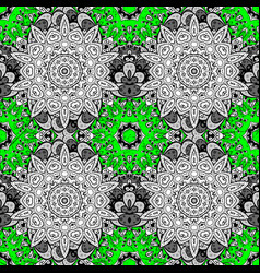Oriental style arabesques green pattern green vector