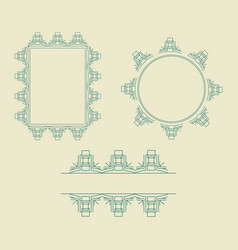 ornament decorative frame collection 03 vector image