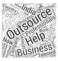 outsourcing india Word Cloud Concept vector image