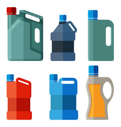 plastic canister with handle vector image