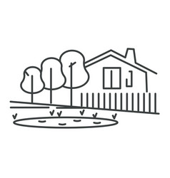 private house isolated icon suburban building vector image