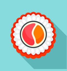 rice sake sushi icon flat style vector image