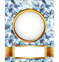 Royal diamond golden frame vector