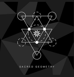 Sacred geometry sign on black background vector
