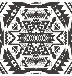 Seamless aztec pattern Ethnic monochrom vector