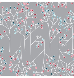 Seamless background pattern with leaves vector image